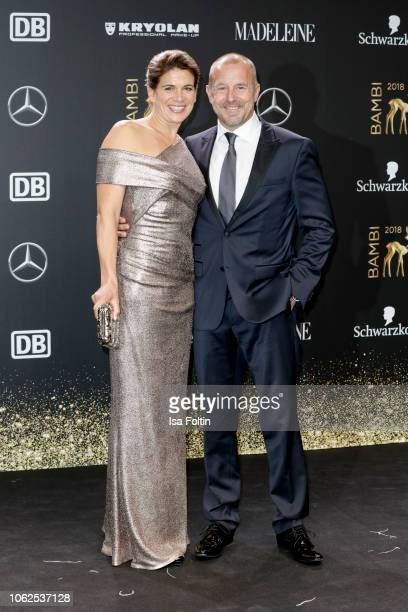 German actor Heino Ferch and his wife MarieJeanette Ferch attend the 70th Bambi Awards at Stage Theater on November 16 2018 in Berlin Germany