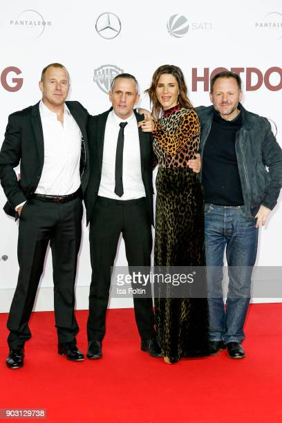 German actor Heino Ferch German actor Tim Wilde German actress Christina Hecke and German actor Samuel Finzi attend the 'Hot Dog' world premiere at...
