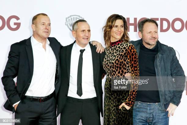 German actor Heino Ferch German actor Tim Wilde German actress Christina Hecke and German actor Samuel Finzi attend the 'Hot Dog' world premiere at...