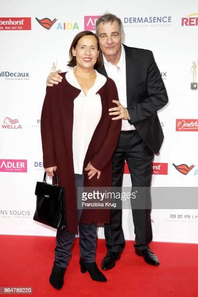 German actor Heinrich Schafmeister and his wife Jutta Schafmeister attend the 'Goldene Bild der Frau' award at Hamburg Cruise Center on October 21,...