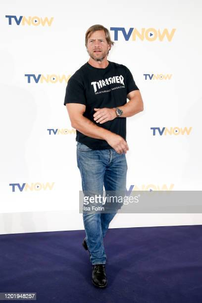 German actor Henning Baum at the TVNOW Fiction Ausblick 20/21 at Soho House on February 19 2020 in Berlin Germany