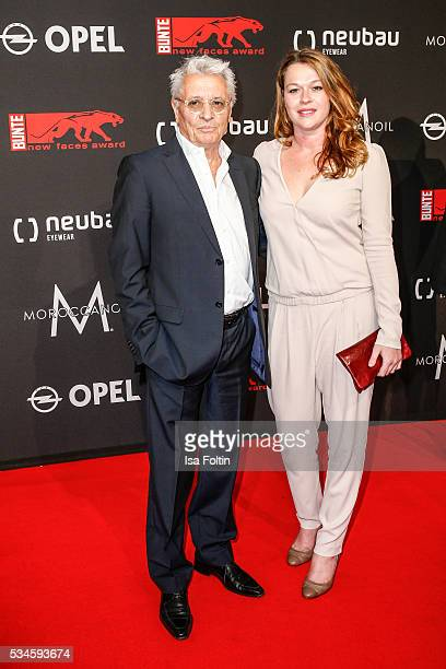 German actor Henry Huebchen and his daughter Nora Huebchen attend the New Faces Award Film 2016 at ewerk on May 26 2016 in Berlin Germany