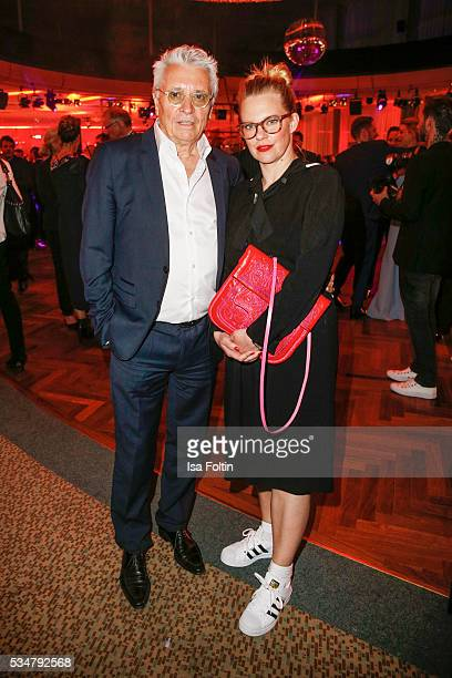 German actor Henry Huebchen and his daughter Theresa Huebchen attend the German Film Award After Show Party at Palais am Funkturm on May 27 2016 in...