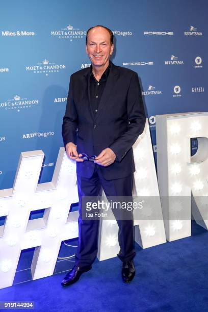German actor Herbert Knaup attends the Blue Hour Reception hosted by ARD during the 68th Berlinale International Film Festival Berlin on February 16...