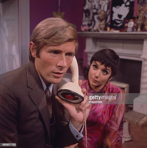 German actor Horst Janson pictured with English actress Jacqueline Pearce in a scene from the television drama 'Root Of All Evil' in 1968
