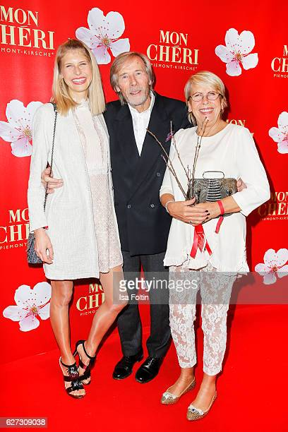 German actor Horst Janson with his daughter Laura janson and his wife Hella Janson during the Mon Cheri Barbara Tag at Postpalast on December 2 2016...