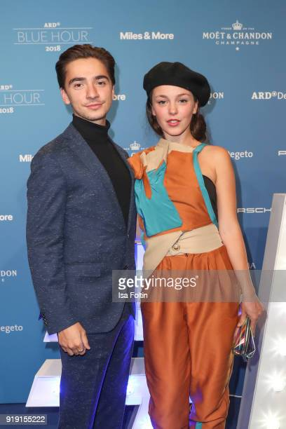German actor Ivo Kortlang and guest attend the Blue Hour Reception hosted by ARD during the 68th Berlinale International Film Festival Berlin on...