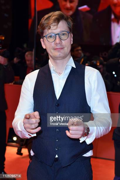 German actor Jacob Matschenz arrives for the closing ceremony of the 69th Berlinale International Film Festival Berlin at Berlinale Palace on...