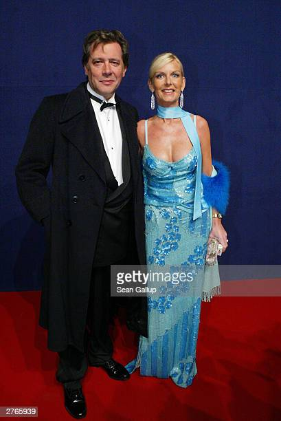 German actor Jan Fedder and his wife Marion attend The Bambi Awards November 27 2003 in Hamburg Germany