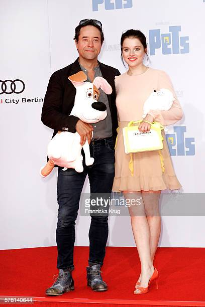 German actor Jan Josef Liefers and german actress Jella Haase attend the premiere of the film 'PETS' at CineStar on July 20 2016 in Berlin Germany