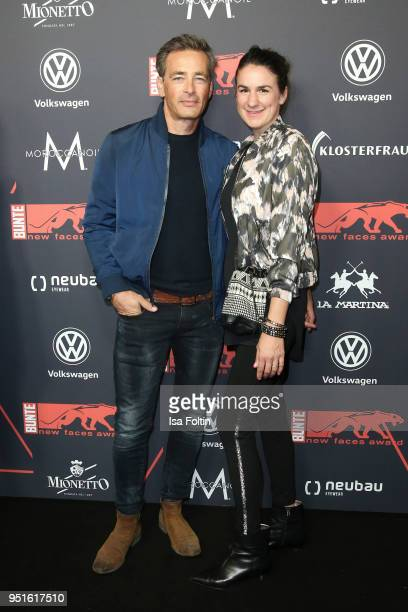 German actor Jan Sosniok and his wife Nadine Moellers attend the New Faces Award Film at Spindler Klatt on April 26 2018 in Berlin Germany