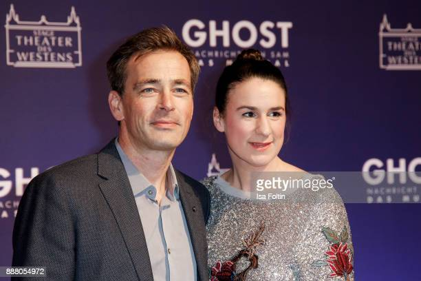 German actor Jan Sosniok and his wife Nadine Moellers during the premiere of 'Ghost Das Musical' at Stage Theater on December 7 2017 in Berlin Germany