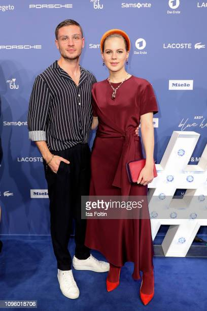 German actor Jannin Schuemann and German actress Alicia von Rittberg attend the Blue Hour Party hosted by ARD during the 69th Berlinale International...