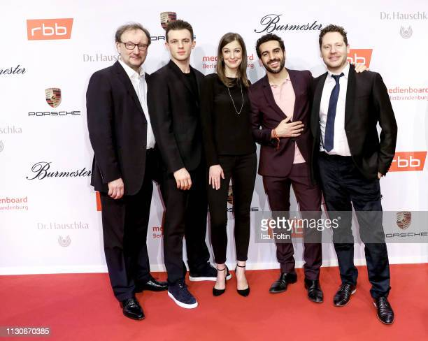 German actor Jannis Niewoehner German actress Alexandra Maria Lara German actor Elyas M'u2019Barek German actor Marco Kreuzpaintner and guest attend...