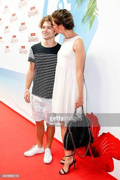 German actor Jascha Rust and his girlfriend Helene Wen attend the Raffaello Summer Day 2016 to celebrate the 26th anniversary of Raffaello on June...