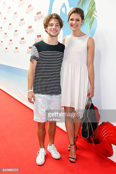 German actor Jascha Rust and his girlfriend Helene Wen attend the Raffaello Summer Day 2016 to celebrate the 26th anniversary of Raffaello on June...