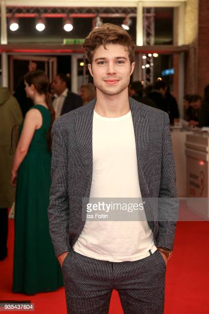 German actor Jascha Rust attends the Deutscher Hoerfilmpreis at Kino International on March 20 2018 in Berlin Germany