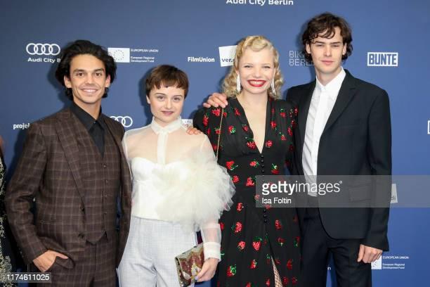 German actor Jasper Engelhardt, German actress Lena Urzendowsky, German actress Luisa-Celine Gaffron and German actor Thomas Prenn at the award...