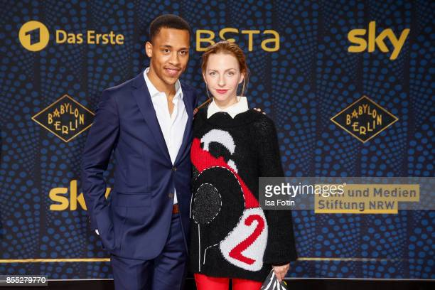 German actor Jerry Hoffmann and German actress Katharina Schuettler attend the 'Babylon Berlin' Premiere at Berlin Ensemble on September 28 2017 in...