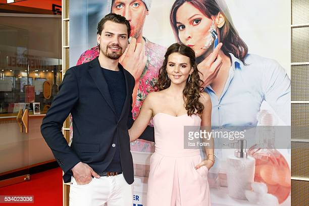 German actor Jimi Blue Ochsenknecht and german actress Ruby O Fee attend the premiere of the film 'Seitenwechsel' at Zoo Palast on May 24 2016 in...