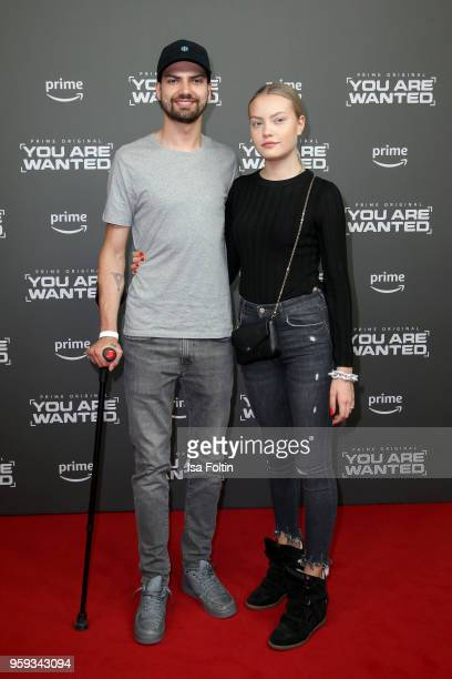 German actor Jimi Blue Ochsenknecht and his sister model Cheyenne Savannah Ochsenknecht attend the premiere of the second season of 'You are wanted'...
