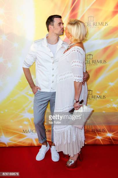German actor Jo Weil and Claudia Effenberg attend the Remus Lifestyle Night on August 3 2017 in Palma de Mallorca Spain