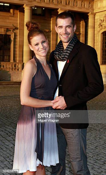 German actor Jo Weil and Katrin Hess arrive on the red carpet at the Minx Fashion Menue 2010 on September 11 2010 in Wuerzburg Germany