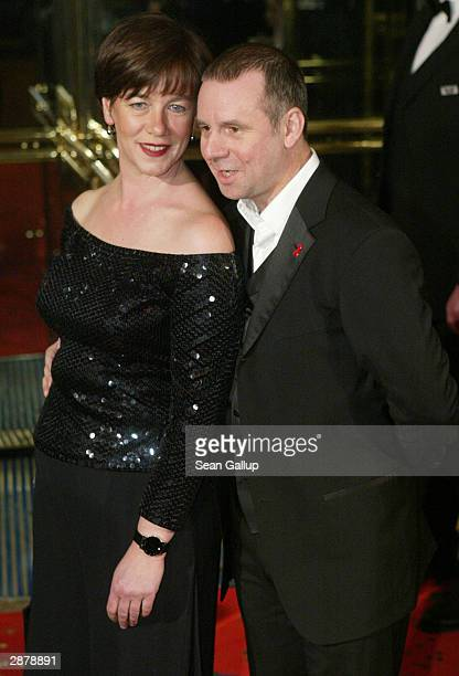 German actor Joachim Krol and his wife Heidrun TeusnerKrol attend the German Film Ball at the Bayerischer Hof January 17 2004 in Munich Germany