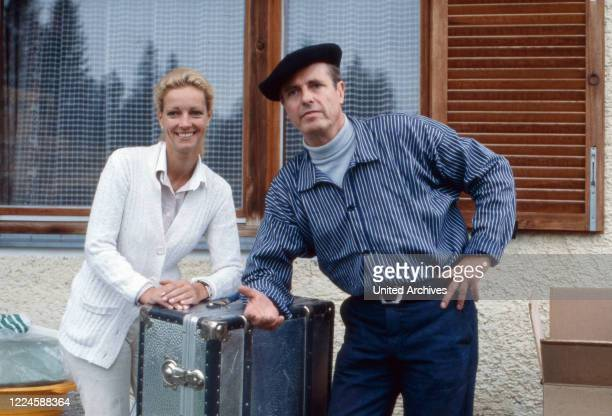 German actor Joachim Wolff with his wife Marionm Wolff, Germany, 1970s.