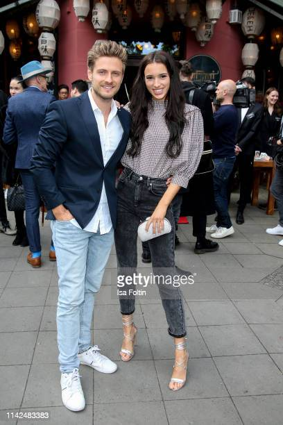 German actor Joern Schloenvoigt and his wife Hanna Weig attend the Umami Opening on May 9, 2019 in Berlin, Germany.