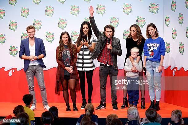 German actor Joern Schloenvoigt singer Sarah Lombardi german moderator Verona Pooth german moderator Tommy Scheel Lilly Becker with her son Amadeus...