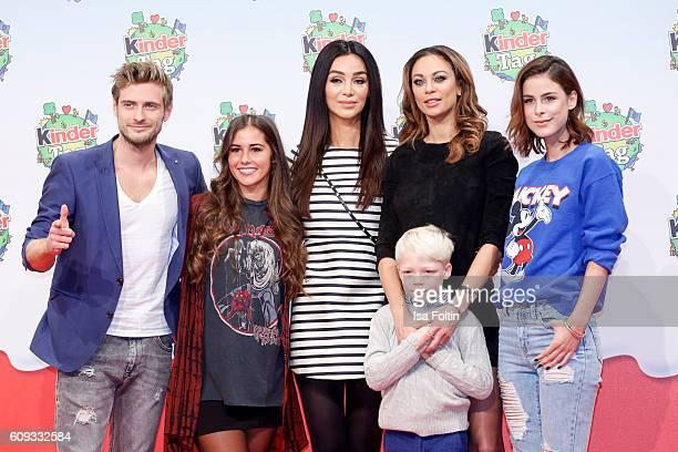 German actor Joern Schloenvoigt, singer Sarah Lombardi, german moderator Verona Pooth, Lilly Becker with her son Amadeus Becker and singer Lena...
