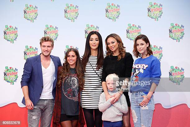German actor Joern Schloenvoigt singer Sarah Lombardi german moderator Verona Pooth Lilly Becker with her son Amadeus Becker and singer Lena...
