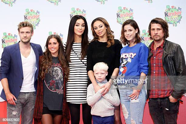 German actor Joern Schloenvoigt singer Sarah Lombardi german moderator Verona Pooth Lilly Becker with her son Amadeus Becker singer Lena MeyerLandrut...
