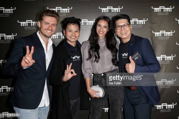 German actor Joern Schloenvoigt, Tuyen Pham, Hanna Weig, Ruth Moschner and Hong Nguyen attend the Umami Opening on May 9, 2019 in Berlin, Germany.