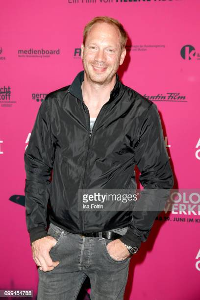 German actor Johann von Buehlow attends the 'Axolotl Overkill' Berlin Premiere at Volksbuehne RosaLuxemburgPlatz on June 21 2017 in Berlin Germany