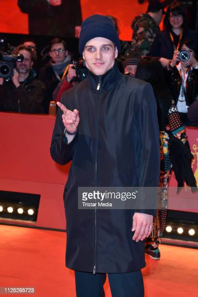 German actor Jonas Dassler arrives for the closing ceremony of the 69th Berlinale International Film Festival Berlin at Berlinale Palace on February...