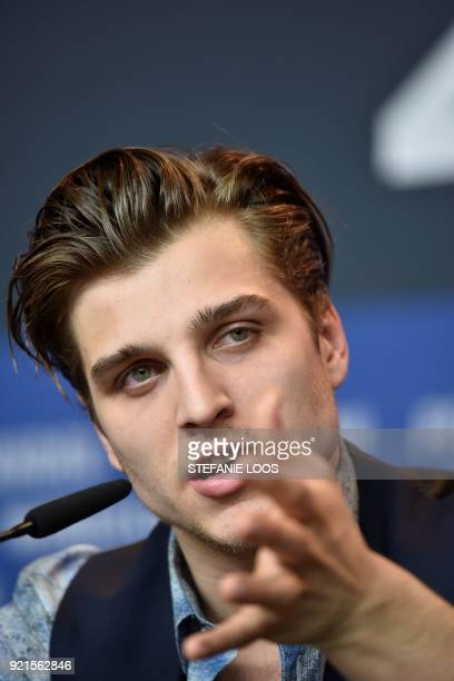 German actor Jonas Dassler speaks during a press conference for the film 'The silent revolution' presented in the 'Berlinale Special Gala' category...