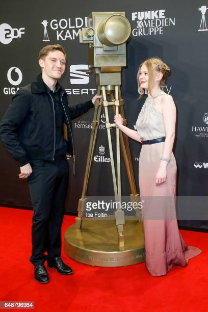 German actor Jonas Nay and german actress Gro Swantje Kohlhof arrive for the Goldene Kamera on March 4 2017 in Hamburg Germany