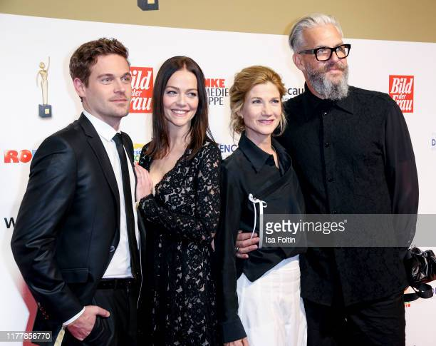German actor Joscha Kiefer with his wife Kristina Doerfer and German actress Astrid M Fuenderich with her husband Mark Horyna attend the annual...