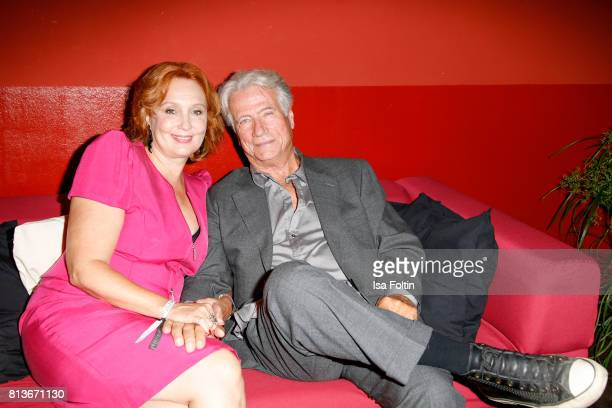 German actor Juergen Prochnow and his wife Verena Wengler during the summer party 2017 of the German Producers Alliance on July 12 2017 in Berlin...