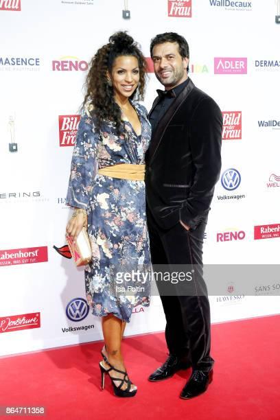 German actor Kai Schumann and his partner Marva Schreiber attend the 'Goldene Bild der Frau' award at Hamburg Cruise Center on October 21 2017 in...