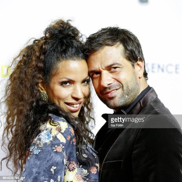 German actor Kai Schumann and his partner Marva Schreiber attends the 'Goldene Bild der Frau' award at Hamburg Cruise Center on October 21 2017 in...
