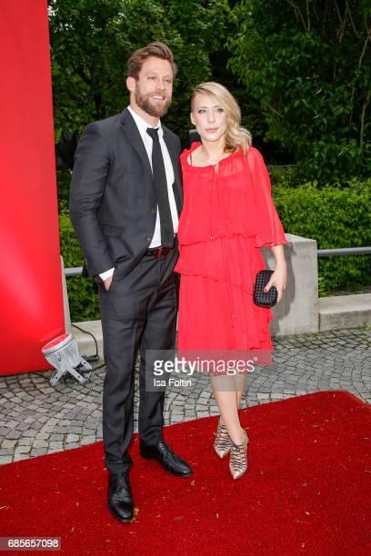 German actor Ken Duken and his wife Marisa Leonie Bach attend the Bayerischer Fernsehpreis 2017 at Prinzregententheater on May 19 2017 in Munich...