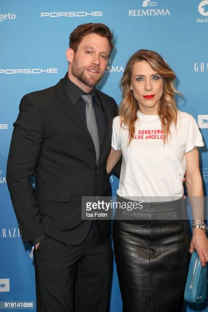 German actor Ken Duken and his wife Marisa Leonie Bach attend the Blue Hour Reception hosted by ARD during the 68th Berlinale International Film...