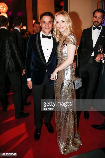 German actor Kostja Ullmann and his wife German actress Janin Ullmann attend the GQ Men of the year Award 2017 after show party at Komische Oper on...