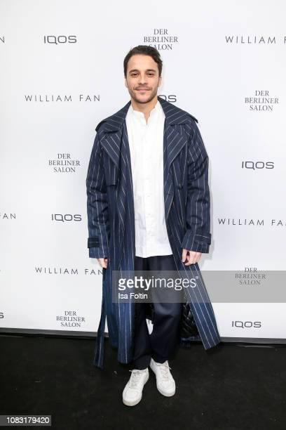 German actor Kostja Ullmann arrives at the William Fan Defile during 'Der Berliner Salon' Autumn/Winter 2019 at Knutschfleck on January 15 2019 in...