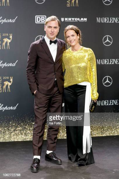 German actor Lars Eidinger and German actress Claudia Michelsen attends the 70th Bambi Awards at Stage Theater on November 16 2018 in Berlin Germany