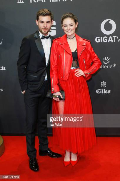 German actor Lucas Reiber and german actress Lea van Acken arrive for the Goldene Kamera on March 4 2017 in Hamburg Germany