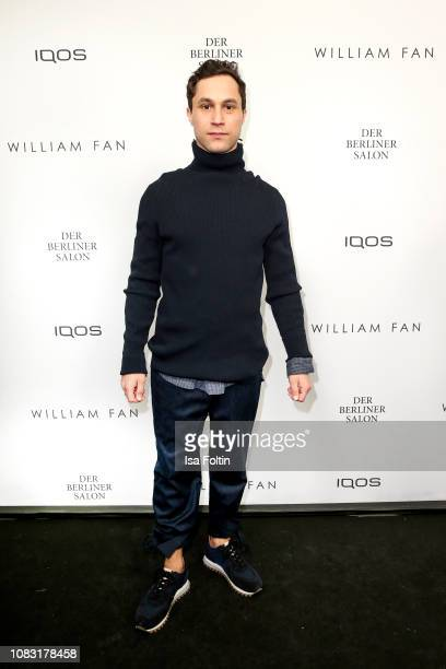 German actor Ludwig Trepte arrives for the William Fan Defile during 'Der Berliner Salon' Autumn/Winter 2019 at Knutschfleck on January 15 2019 in...